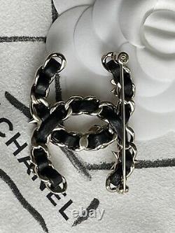 NWT 2020 CHANEL CC Logo Gold/Pearly/Crystal Icon Symbols Brooch BEAUTIFUL RARE