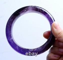 Natural Lavender Amethyst Quartz Crystal Madam Bangle Inner Diameter 58.5mm