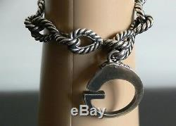 New $1250.00 Gucci Horse G Made In Italy 925 Sterling Silver Bracelet G17