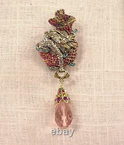 New $160 HEIDI DAUS Swimming Beauty Crystal Mermaid Brooch Pin