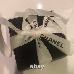 New Auth CHANEL Crystal Blue Large CC Earrings Limited Edition