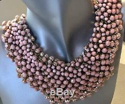 Nordstrom Natasha Haute Couture Pink Chunky Choker Necklace Statement Jewelry