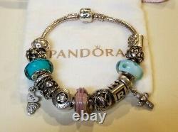 PANDORA7.5 Sterling Silver Loaded Bracelet with 13 CharmsRETIREDALE/925EUC