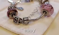 PANDORASterling Silver Fully Loaded Lobster Clasp Bracelet with 11 Charms