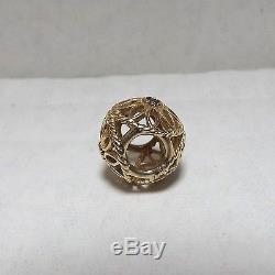 Pandora 14k Gold Delicate Beauty 75081SPB Black Spinel Bead Charm 2.4gr