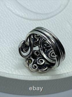 Pandora Beautiful Rare Sterling Silver Autumn WindsRing 190203CZP Sz 51 Genuine