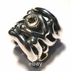 Pandora Dancing Sterling Two Tone Bead Silver With 14k Gold #790569db F/sh