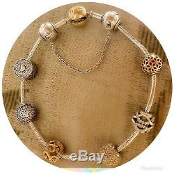 Pandora bracelet Essence 7.5 Cierre En Oro Include Charms Gold And Silver 925