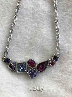 Patricia Locke 18 Silver Tone Necklace with Beautiful Swarovski Crystals