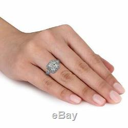 Princess Cut 1.20 Diamond Engagement Wedding Ring 14k White Gold Over Women's