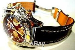 Pristine BREITLING chronomat 44 STAINLESS STEEL Brown/Gold dial beauty m-1B0110