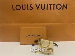 Pristine Louis Vuitton Sweet Monogram Creole Hoop Earrings Charm Gold Beautiful