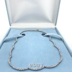QVC Epiphany Platinum Clad Sterling Silver Diamonique Necklace 16