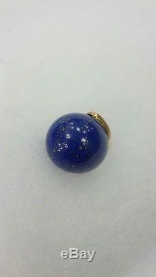 RR Rare beautiful Russian Italian 18k gold 750 lazurite egg-shaped pendant