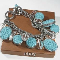 SILPADA Viva La Diva Turquoise Sterling Silver Barcelona Bracelet Rep Only RARE