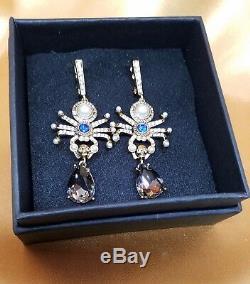 Signed $595 Alexander Mcqueen Spider Earrings, Nwot, Stunning Beauty