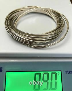 Silpada 21 Salute Interlocking Bangle Sterling Silver Bracelet B0640 $279 MINT