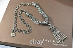 Silpada Gathered Tassel. 925 Sterling Silver Necklace N2305 RARE HTF Ornate