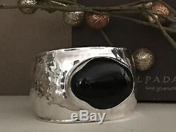 Silpada Sterling Silver & Etched Chalcedony Cuff BraceletB2043 NIB