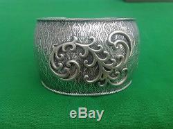 Silpada Sterling Silver Matte Wave Cuff Bracelet $289 B1866 Retired BEAUTIFUL