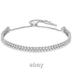 Swarovski 5221397 Subtle Double Silver Bracelet 14cm-24cm RRP$149