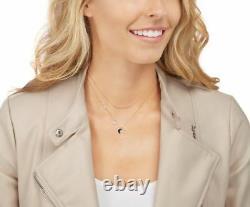 Swarovski 5273290 Glowing Moon Necklace Set Black/White/Rose Gold RRP $199