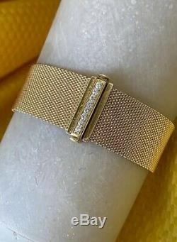 Tiffany & Co. 18K Gold Diamonds Somerset Cuff Bracelet AUTHENTIC Collectible
