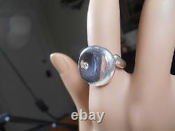 Tiffany & Co. Elsa Peretti Diamond Round Ring Sterling Silver Retired, Beauty
