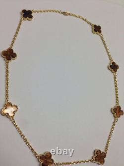 Tiger Eye Clover Necklace