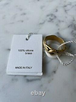 Unique MAISON MARGIELA FW17 Gold Effect Brass Ménage à trois Love Ring L NWT