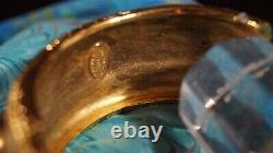 VTG CHANEL Gold Tone Victoire de Castellane Gripoix Byzantine Bangle Bracelet