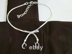 Vintage Christian Dior Necklace Silver