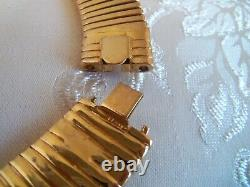 Vintage Gold plated two head Panther choker Necklace Beautiful