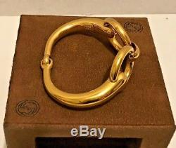 Vintage Gucci Gold Plated Horsebit Snaffle Bracelet No Loss Of Color Beautiful