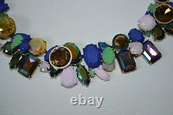 Vintage J. Crew Mixed Pastel Brulee Necklace GORGEOUS CHOKER