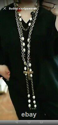 Vintage pH leandri Paris necklace. Large, beautiful necklace. Gripoix necklace