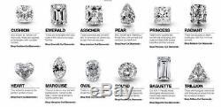 Women's 14K White Gold White Diamond Crystal Inlaid Ear Stud Earrings Jewelry