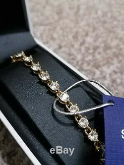 Women's Jewellery Swarovski Crystal rose gold toned Bracelet GENUINE BOXED